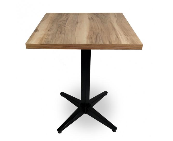 Cafe Masası Metal Ayak Çam
