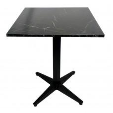 Mermer Desen Masa Siyah Cafe Masası 4 Ayak