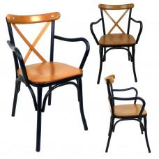 Mutfak Sandalyesi Kollu Tonet Sandalye Bahçe Sandalyesi Cafe Sandalyesi