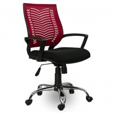 Sow Ofis Koltuğu Çalışma Koltuğu Büro Koltuğu Kırmızı Sırt Metal